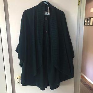 Jackets & Blazers - New! Teal Fleece Poncho